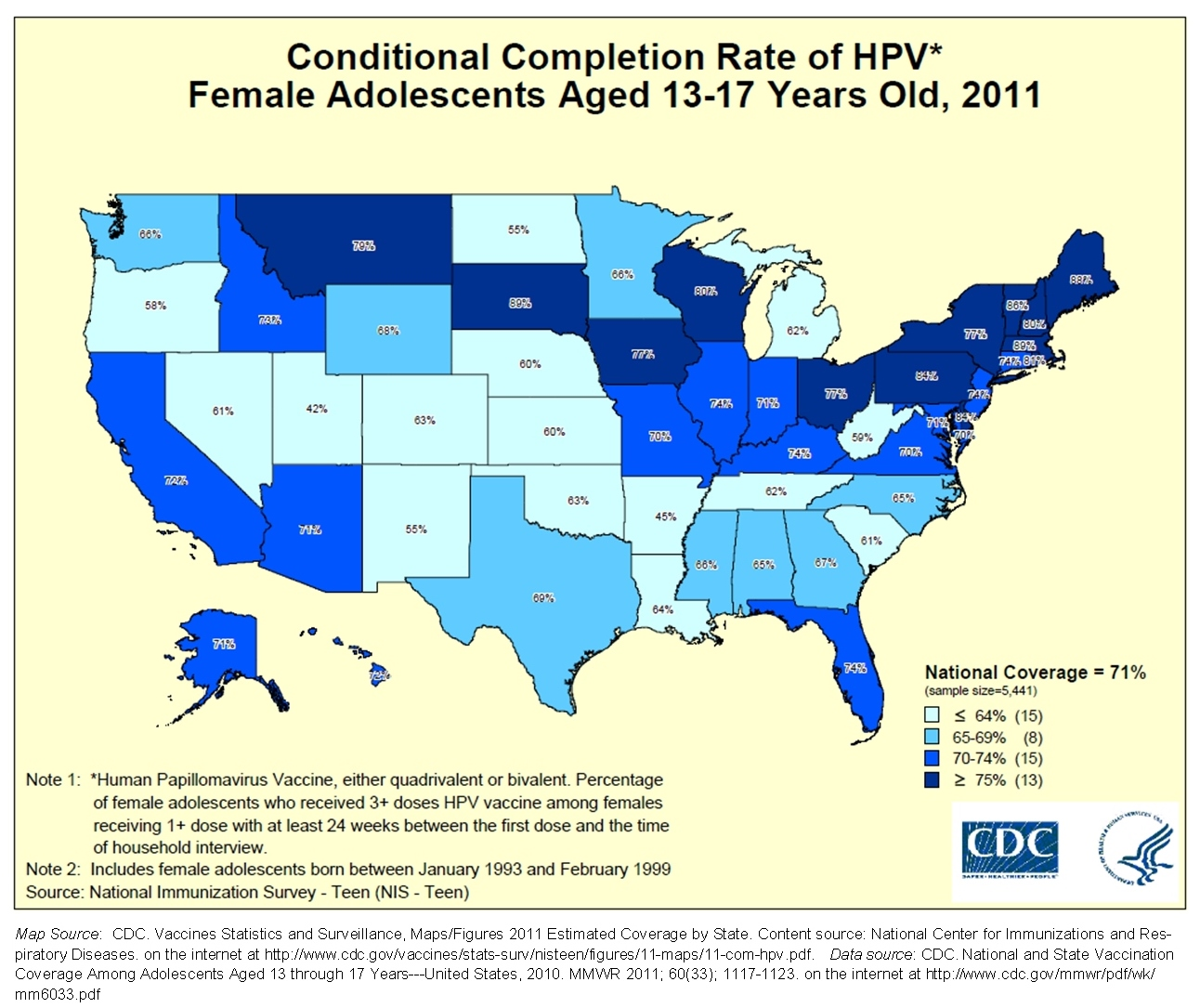 Its Doctors Fault For The Low HPV Vaccine Rates Mothering Forums - Map of the us showing vaccination rates